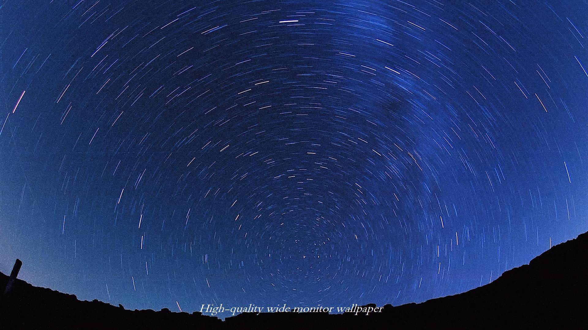 フィルムで撮影した北の夜空をモチーフにしましたワイドモニター 19 1080 高画質壁紙 アスペクト比 16 9 星景写真 長時間露光 Time Lapse 微速度撮影 夜間撮影 インターバル撮影