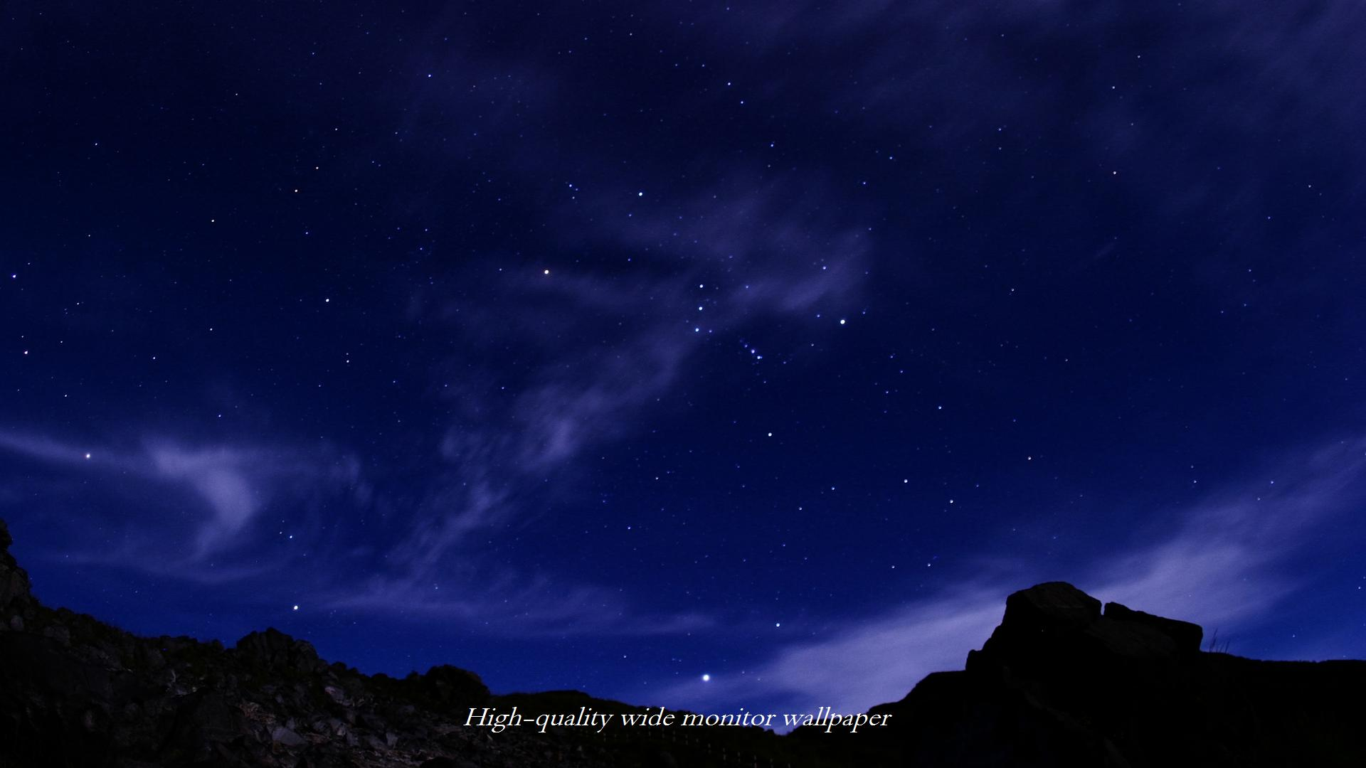 硫黄山で撮影したオリオン座をモチーフにしましたワイドモニター 19 1080 高画質壁紙 アスペクト比 16 9 星景写真 長時間露光 Time Lapse 微速度撮影 夜間撮影 インターバル撮影